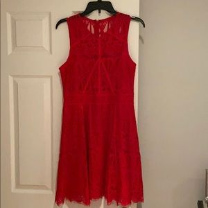 Adelyn Rae red lace cocktail dress